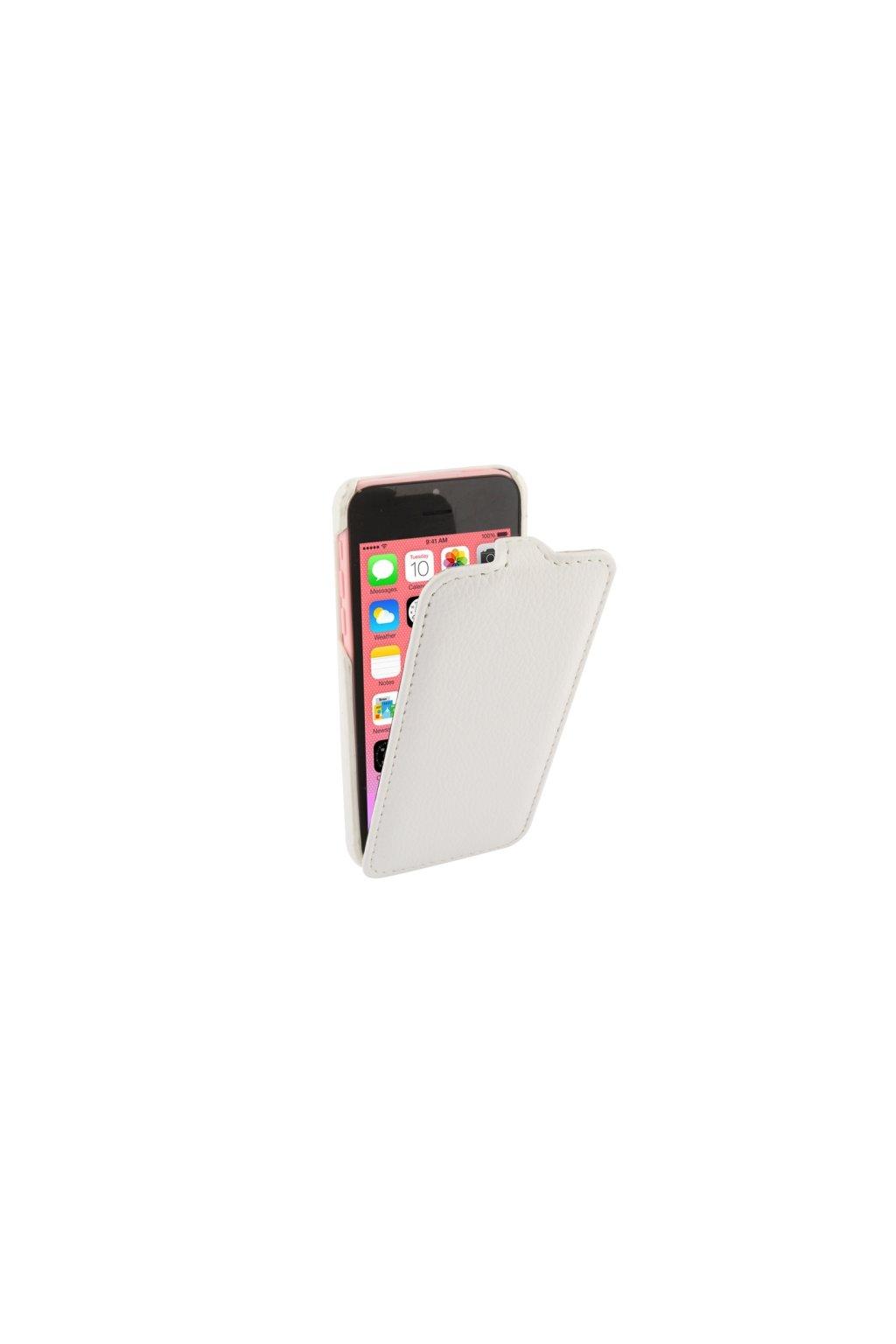 Pouzdro flip Melkco iPhone 5C, white/bílá