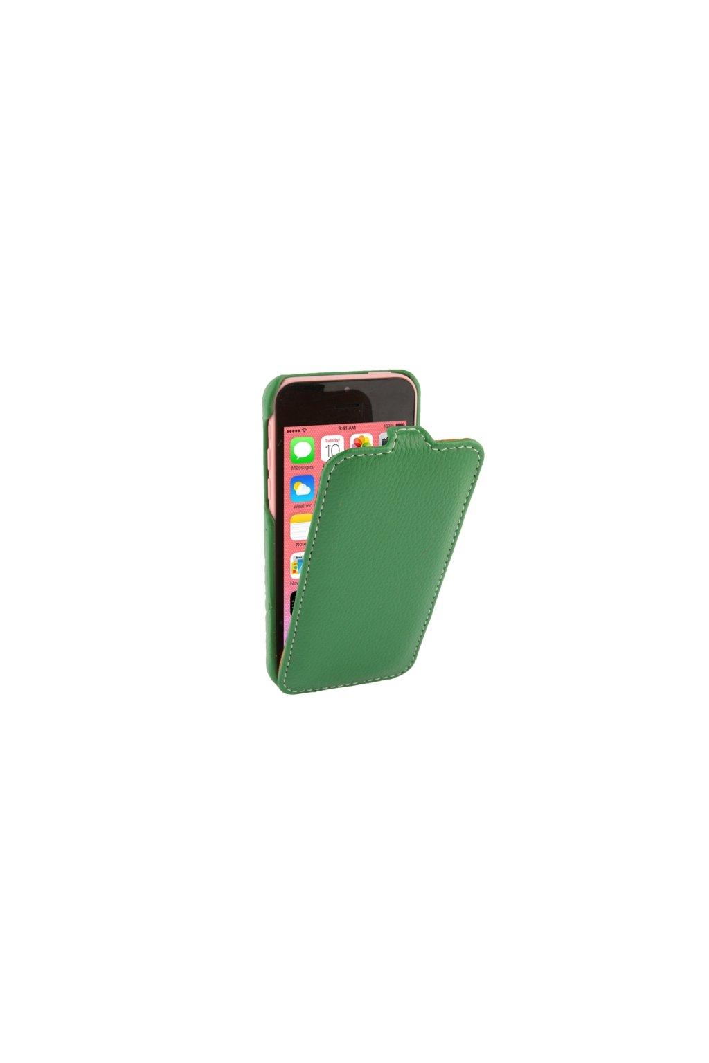 Pouzdro flip Melkco iPhone 5C, green/zelená