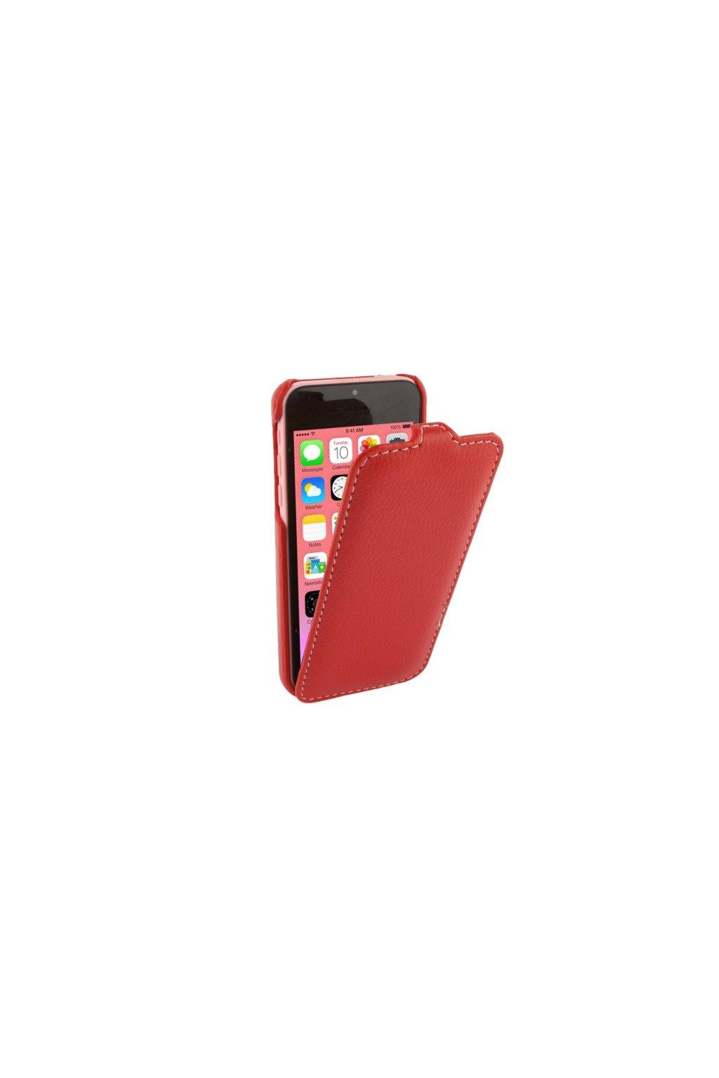 Pouzdro flip Melkco iPhone 5C, red/červená