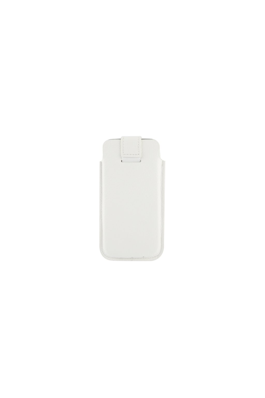 Koženkové pouzdro Lichi iPhone 5/5S, white/bílá