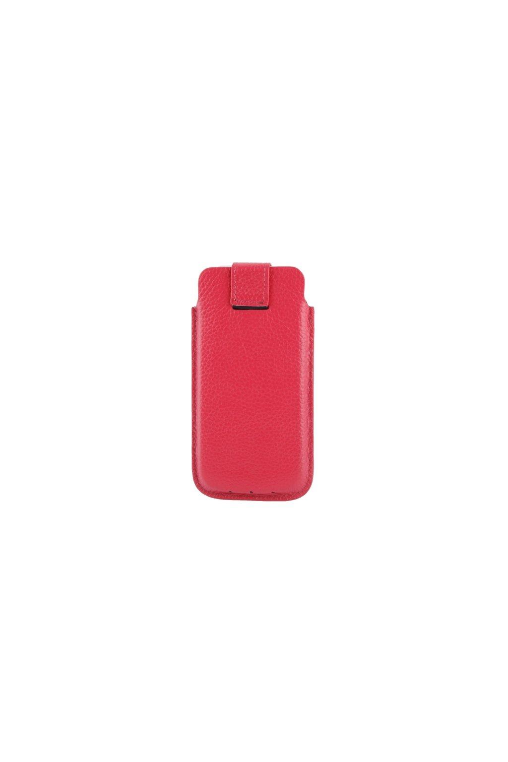 Koženkové pouzdro Lichi iPhone 5/5S, red/červená