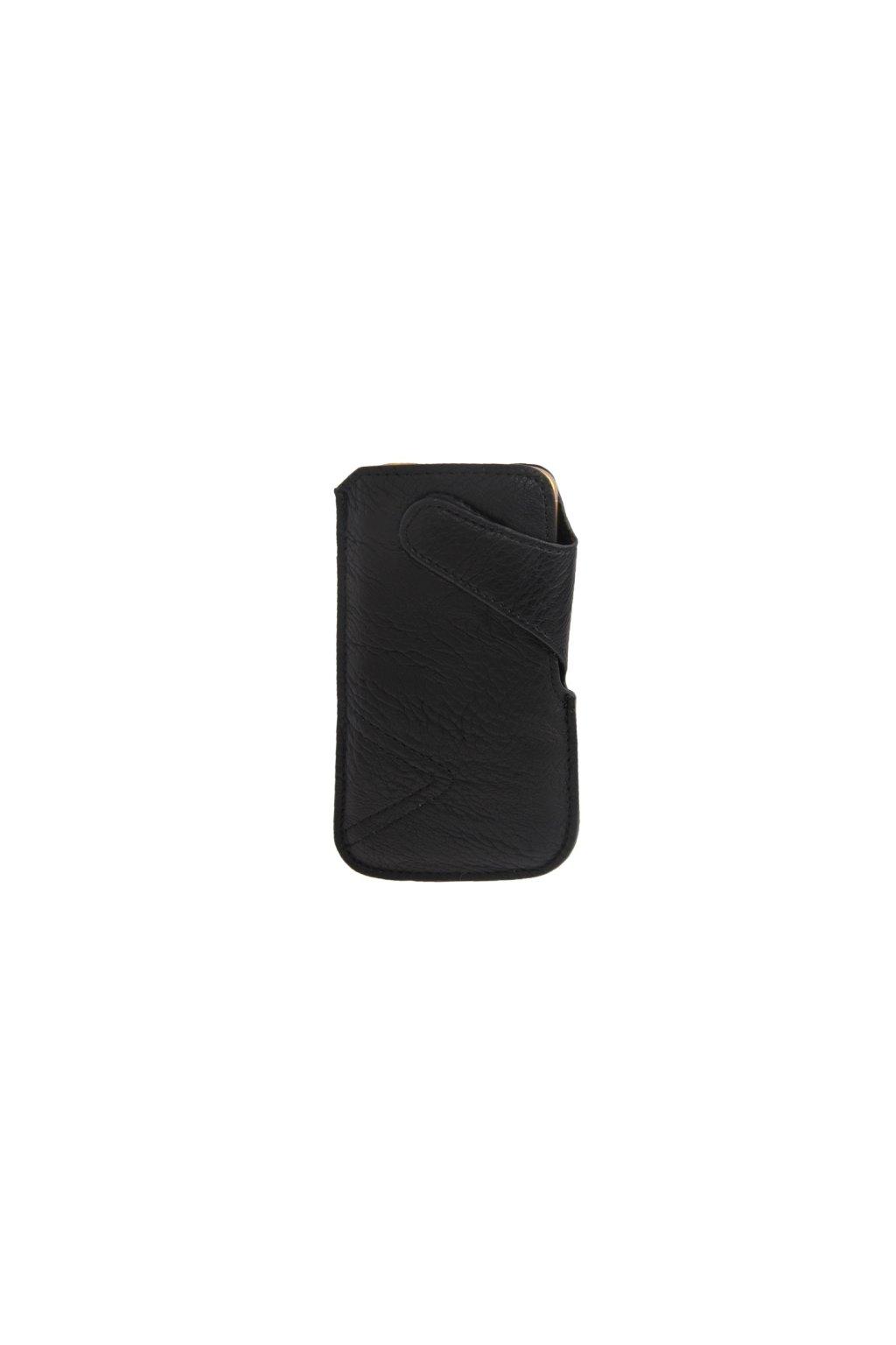 Koženkové pouzdro Pull iPhone 5/5S, black/černá