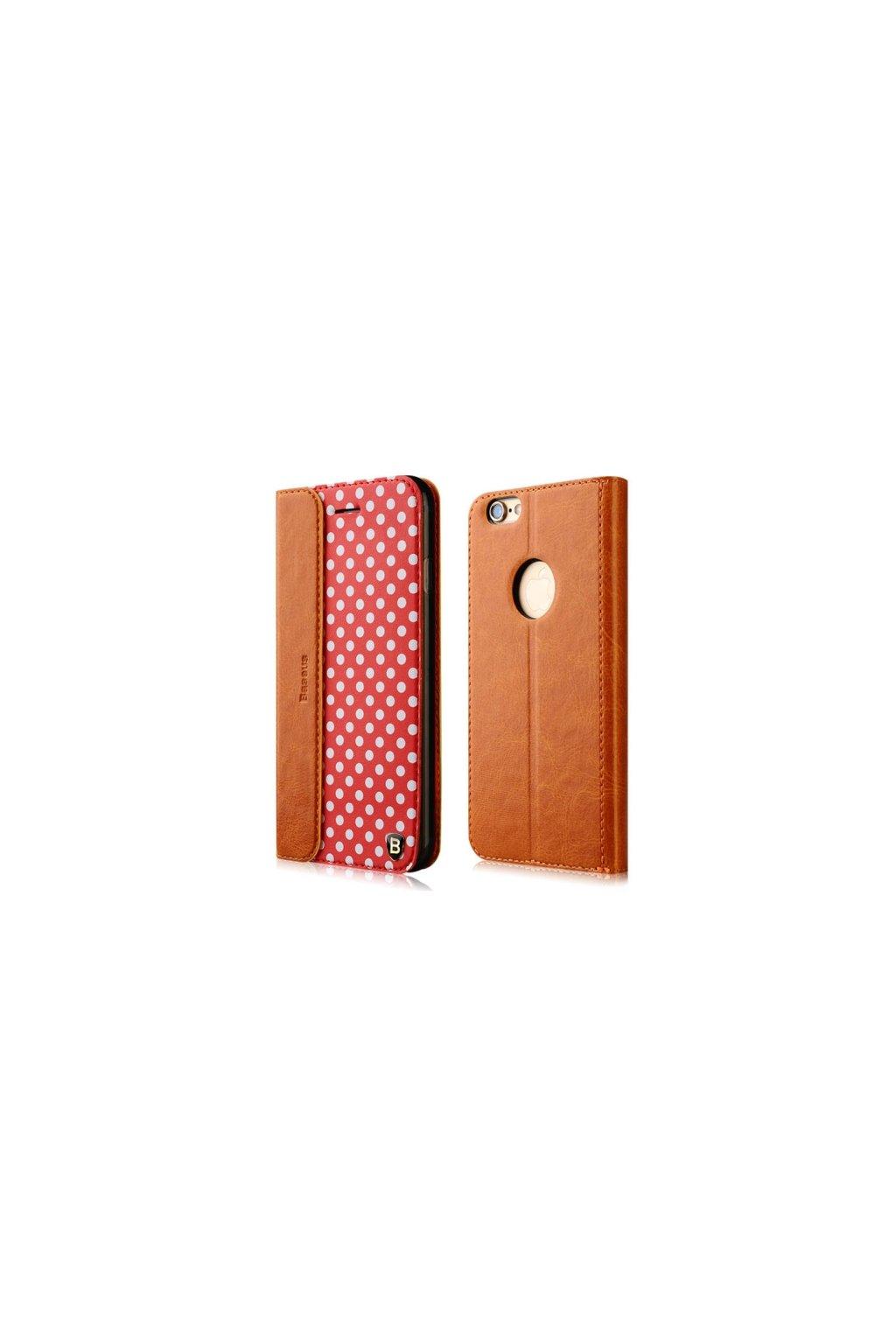 Apple iPhone 6 pouzdro Baseus Collocation flip, red/červená