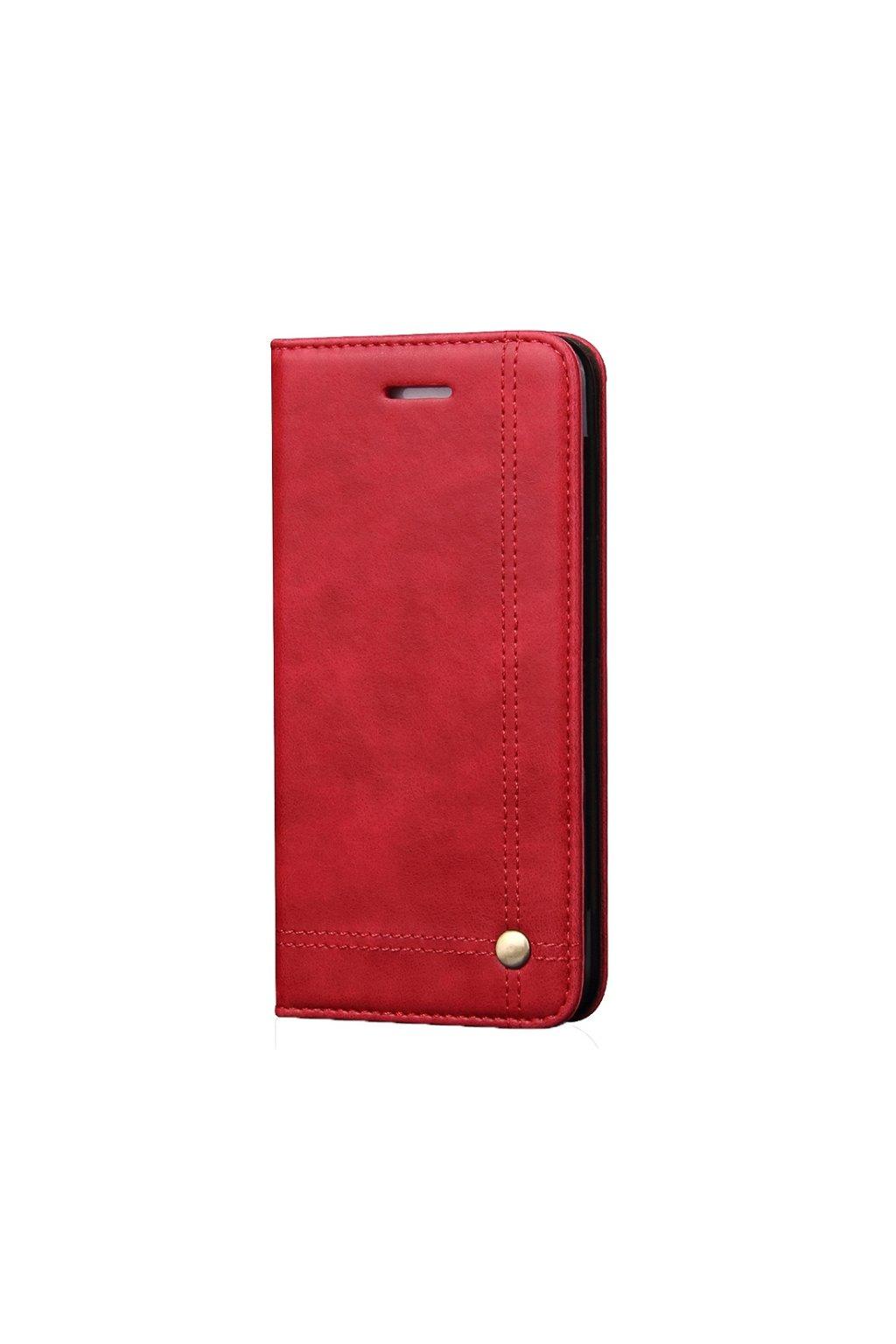 Flipové koženkové pouzdro iPhone 5, 5s, SE Red