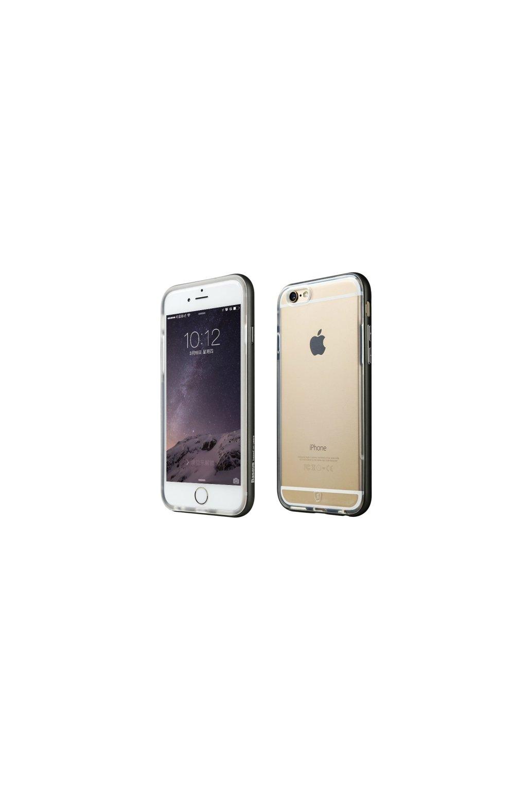 Pouzdro s kovovým rámem Baseus Apple iPhone 6/6S, Black
