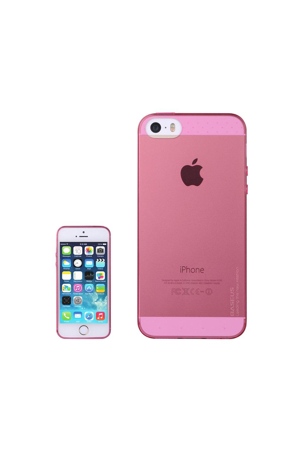 Pouzdro Apple iPhone 5/5S/SE Baseus Air TPU, red