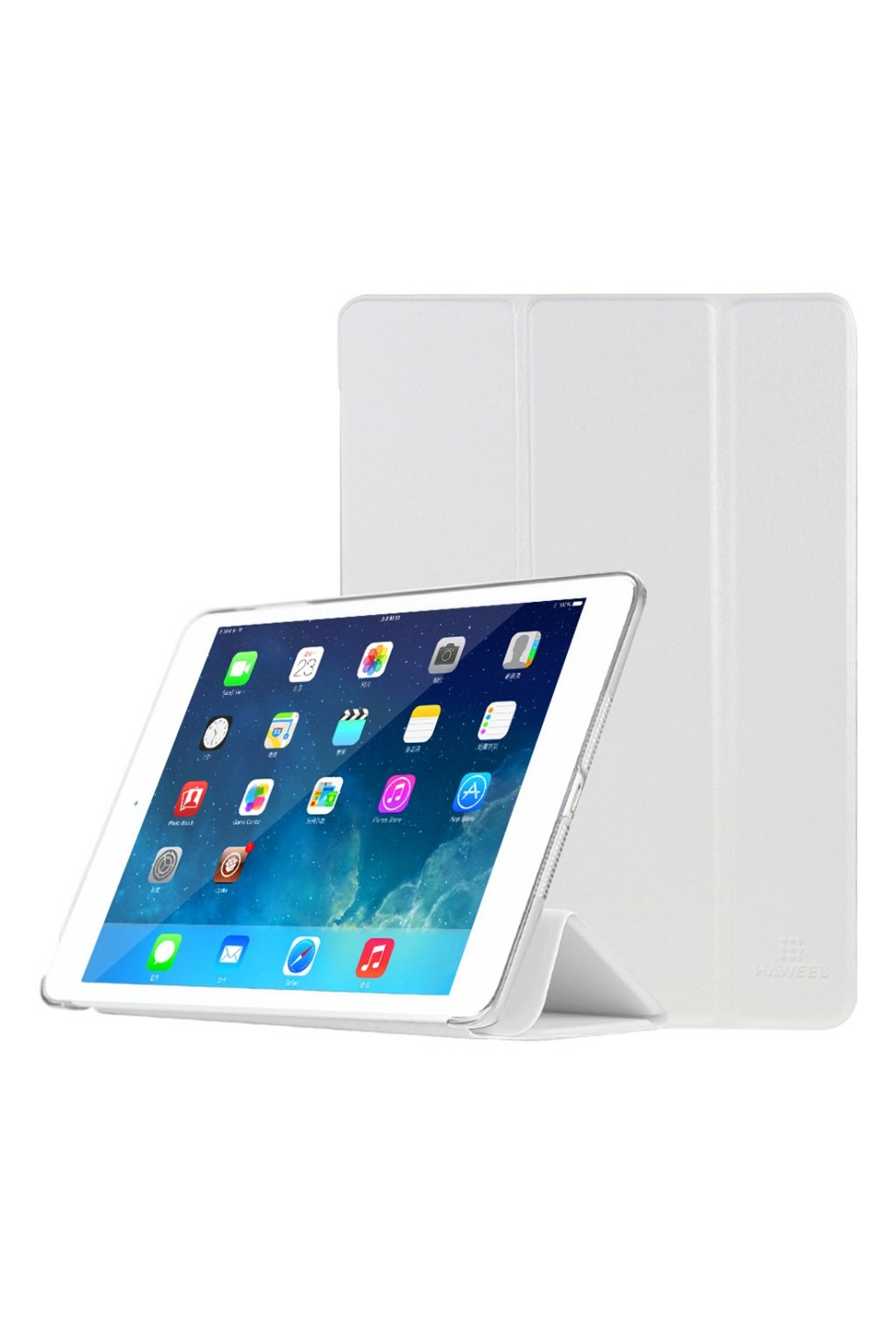 Pouzdro flip HAWEEL Smath Apple iPad Air 2, white