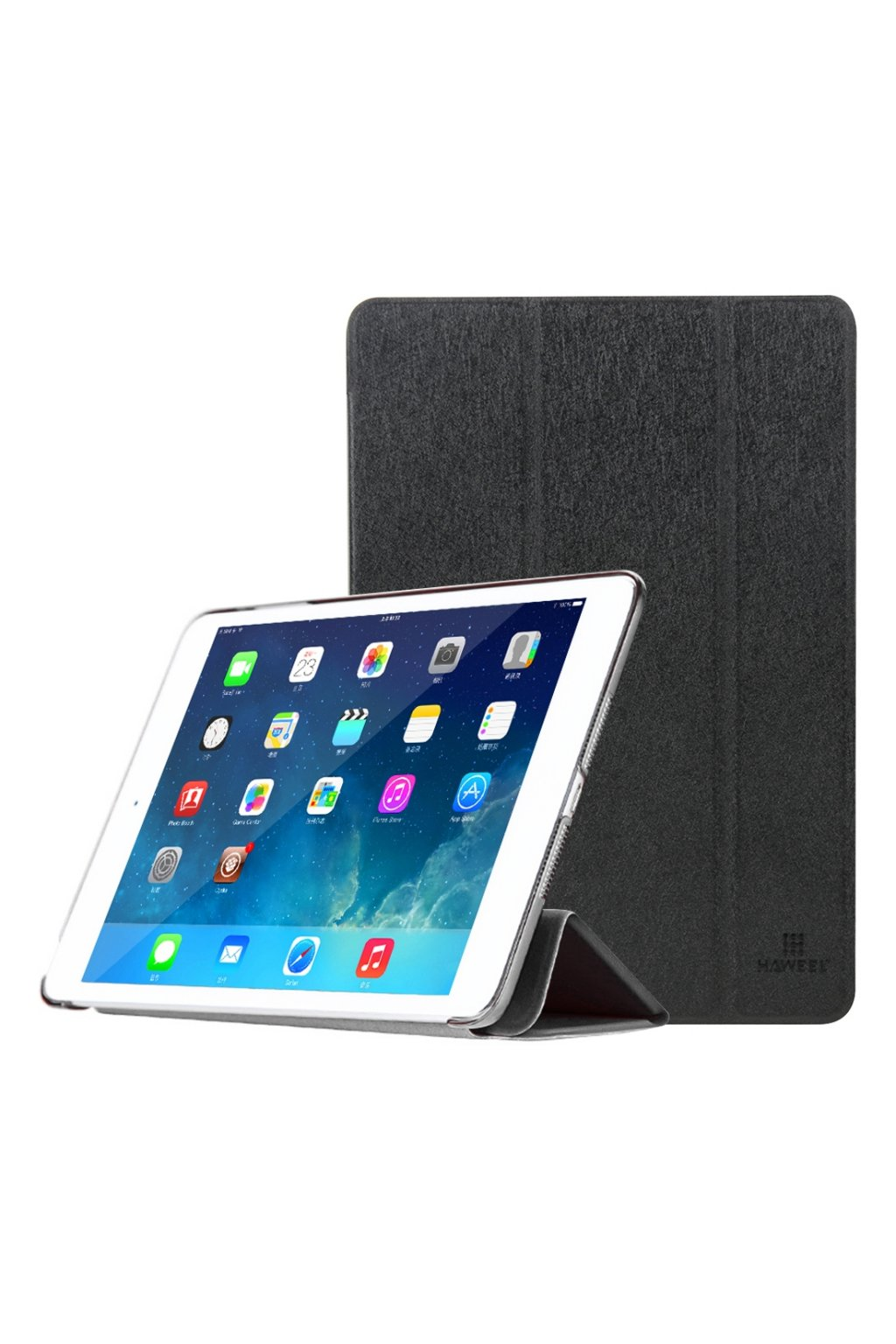 Pouzdro flip HAWEEL Smath Apple iPad Air 2, black