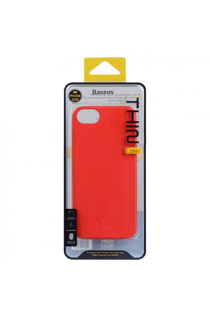 Pouzdro Baseus Thin Apple iPhone 5/5S a SE, red