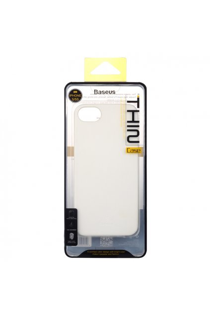 Pouzdro Baseus Thin Apple iPhone 5/5S a SE, white