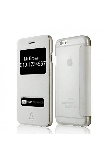 Pouzdro flip Baseus Mile Apple iPhone 6/6S Plus, white