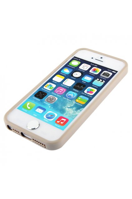 Pouzdro TPU Trim Apple iPhone 5/5S/SE, silver