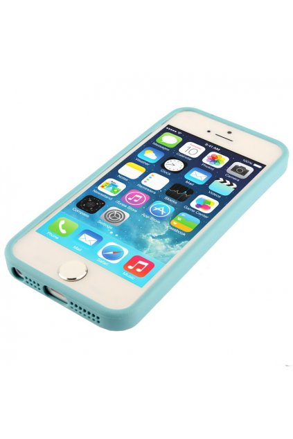 Pouzdro TPU Trim Apple iPhone 5/5S/SE, blue