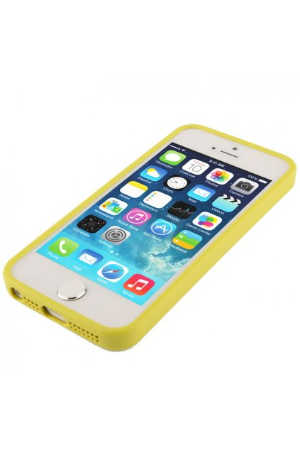 Pouzdro TPU Trim Apple iPhone 5/5S/SE, yellow