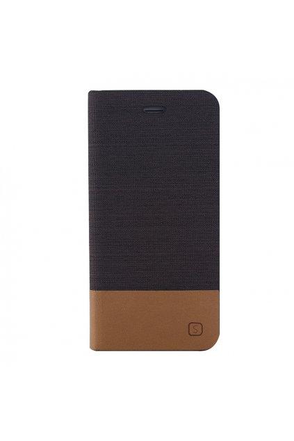 Pouzdro flip Canvas Apple iPhone 6/6S Plus, brown