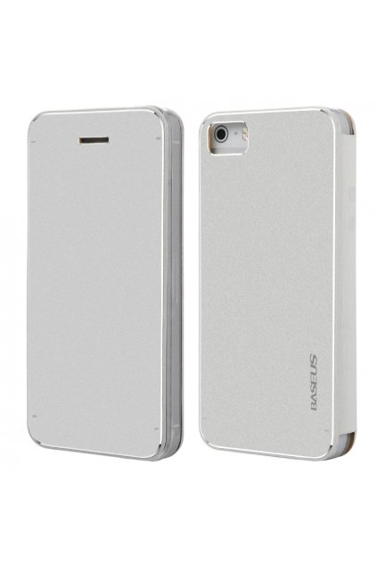 Pouzdro flip Baseus Noble Apple iPhone 5/5S/SE, white