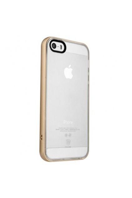 Pouzdro Baseus Feather Apple iPhone 5/5S/SE, gold