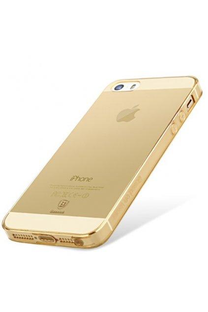 Pouzdro Baseus Simple Apple iPhone 5/5S/SE, gold