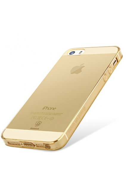 Pouzdro Baseus Simple Apple iPhone 5/5S/SE, gold