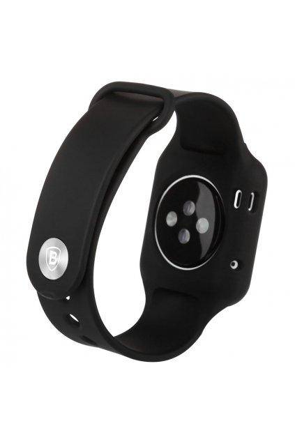 Silikonový řemínek vč. krytu Apple Watch 38mm, black