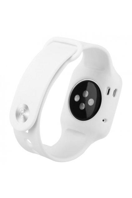 Silikonový řemínek vč. krytu Apple Watch 38mm, white
