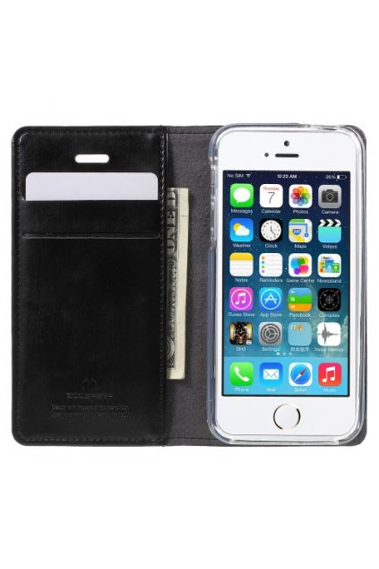 Pouzdro flip Mercury Apple iPhone 5/5S/SE, black