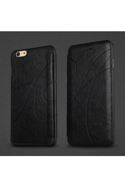 Pouzdro flip Oscar Apple iPhone 6/6S Plus, black