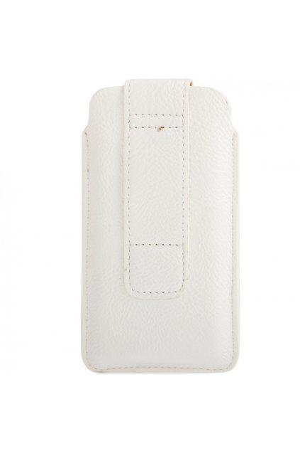 Koženkové pouzdro Kapsa iPhone 5/5S, white