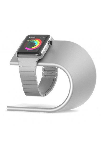 Hliníkový nabíjecí stojánek pro Apple Watch 38/42mm, silver