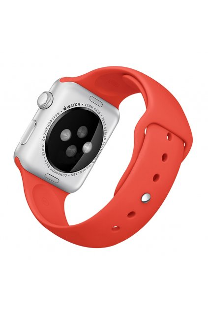 Silikonový řemínek Rock pro Apple Watch 42mm, red