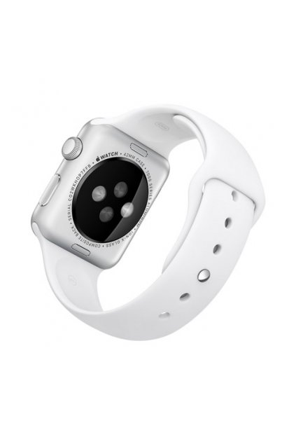 Silikonový řemínek Rock pro Apple Watch 38mm, white
