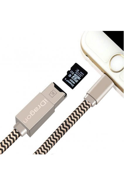 USB čtečka pam. karet pro IOS s Lightning, 30cm