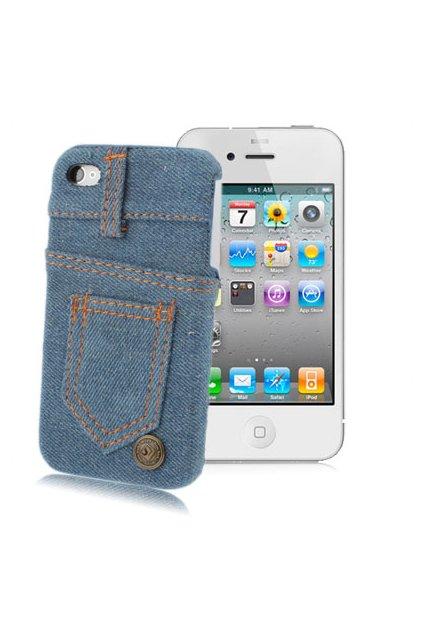 Pouzdro Jeans iPhone 4/4S, blue/modrá