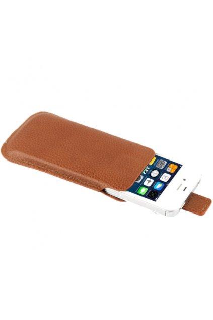Kožené pouzdro Lichi iPhone 4/4S, brown/hnědá