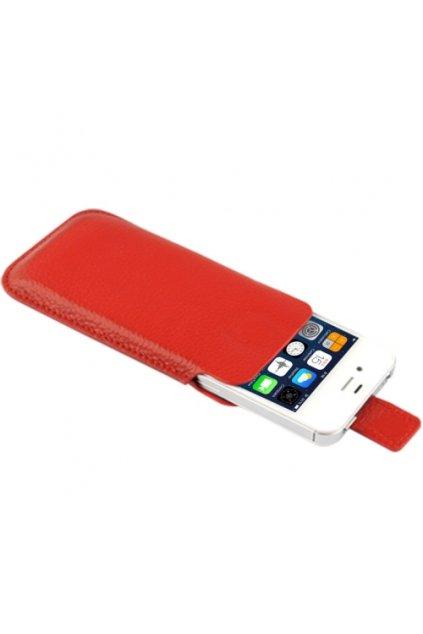 Kožené pouzdro Lichi iPhone 4/4S, red/červená
