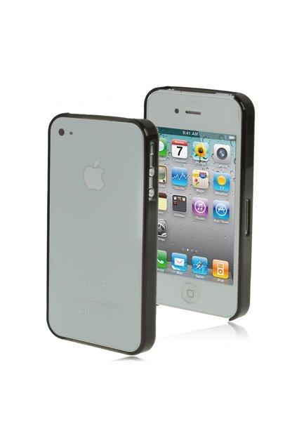 Pouzdro ultra tenké Crystal iPhone 4/4S, black/černá