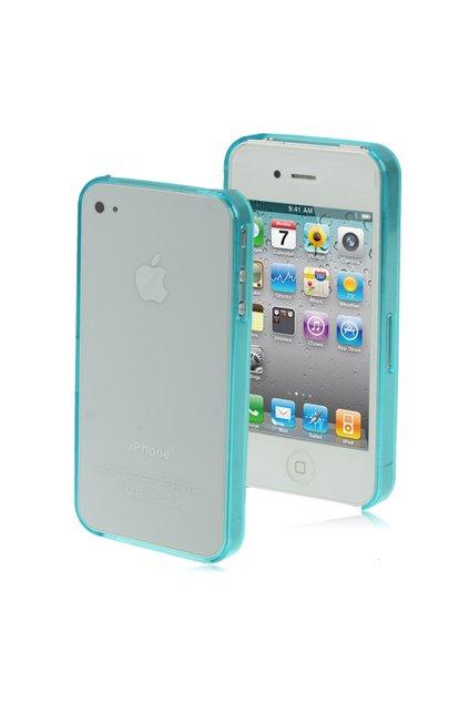 Pouzdro ultra tenké Crystal iPhone 4/4S, blue/modrá