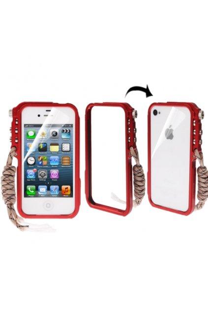 Hliníkový rámeček Trigger iPhone 4/4S, red/červená