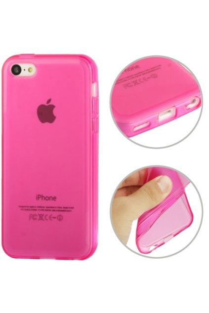 Pouzdro matné TPU iPhone 5C, pink/růžová