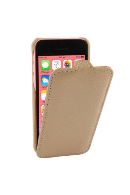 Pouzdro flip Melkco iPhone 5C,  white coffee