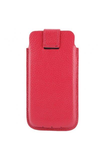 Koženkové pouzdro Lichi iPhone 5/5S/SE, red/červená