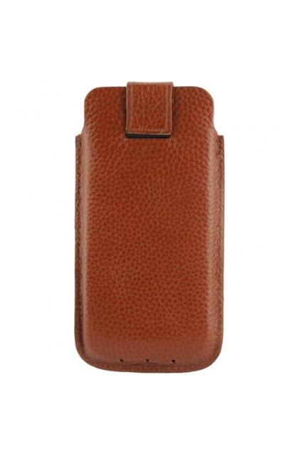 Kožené pouzdro Lichi iPhone 5/5S, coffee