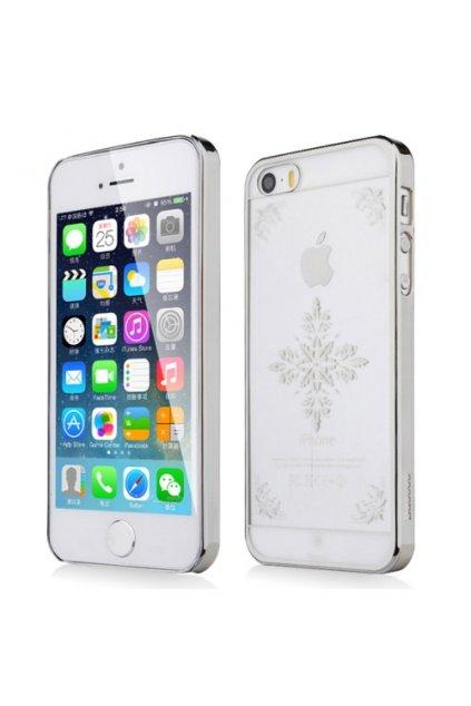 Pouzdro Baseus Royal Snow iPhone 5/5S, silver/stříbrná