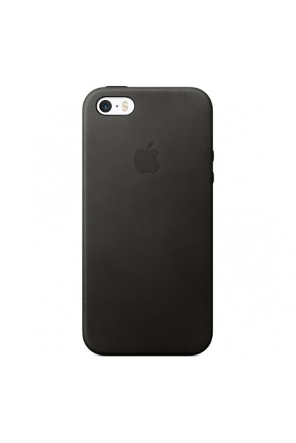 Apple iPhone SE Leather Case Black 01