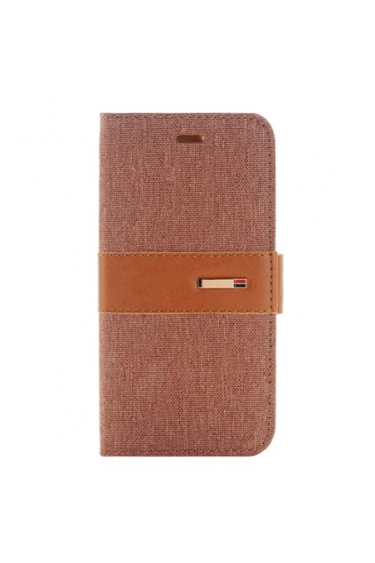 Apple iPhone 6/6S pouzdro flip DENIM, Brown