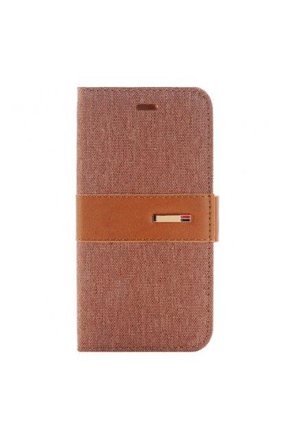 Apple iPhone 6/6S pouzdro flip DENIM, Brown