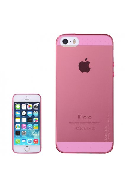 Pouzdro Apple iPhone 5/5S/SE Baseus Air TPU, red