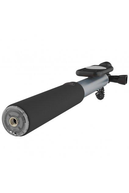 Teleskopická SELFIE tyč ROCK 24-90cm, grey