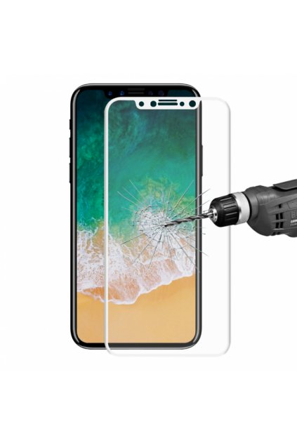 enkay super odolne 3d tvrzene sklo pro iphone x 02mm bila