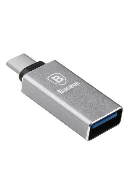 Redukce Baseus USB 3.0 / USB Type-C 3.1, grey